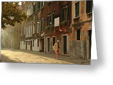 A Venetian Stroll Greeting Card