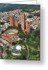 A View Of Downtown Bogota Greeting Card