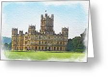 A View Of Highclere Castle 1 Greeting Card by Joe Winkler