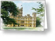 A View Of Highclere Castle 2 Greeting Card by Joe Winkler