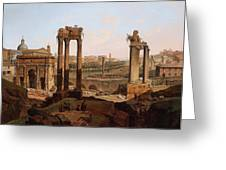 A View Of The Forum Romanum Greeting Card