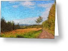 A Walk Through The Countryside Greeting Card by Gerlinde Keating - Galleria GK Keating Associates Inc