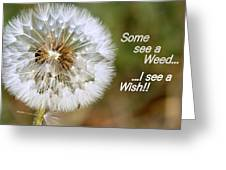 A Weed Or Wish? Greeting Card