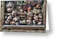 Abandoned Doll Heads Greeting Card