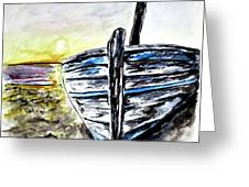 abandoned Fishing Boat No.2 Greeting Card by Clyde J Kell