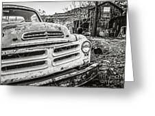 Abandoned Ghost Town Studebaker Truck Greeting Card