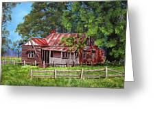 Abandoned Old Farm House Greeting Card