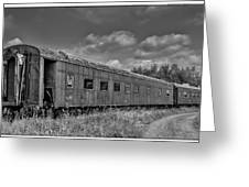 Abandoned Railroad Car In Rural New Brunswick Greeting Card