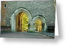 Abbey Gateway St Albans Hertfordshire Greeting Card