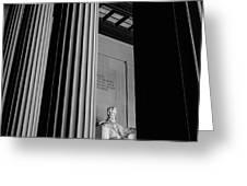Abraham Lincoln Memorial Washington Dc Greeting Card by Edward Fielding