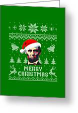 Abraham Lincoln Merry Christmas Greeting Card