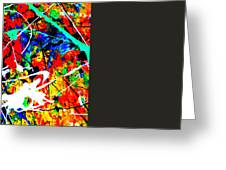 abstract composition K12 Greeting Card