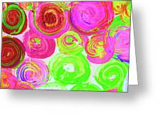 Abstract Flower Crowd Greeting Card