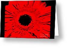 Abstract Gerber Modern Greeting Card