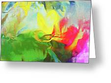 Abstract In Full Bloom Greeting Card