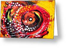 Abstract Lion Fish Greeting Card