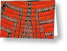Abstract Oranges Blacks Browns Yellows Rows Columns Angles 3152019 5476 Greeting Card