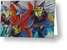 Abstract Orchids.  Greeting Card