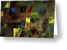 Abstract Patchwork Greeting Card