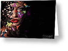 Abstract Portrait No 12 Greeting Card