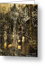 Abstract Scary Ocher Plaster Greeting Card