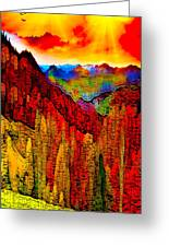 Abstract Scenic 3 Greeting Card