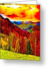 Abstract Scenic 3a Greeting Card