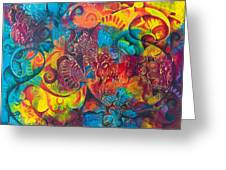 Abstract Splash 1 Greeting Card