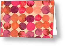 Abstract Watercolored Geometric Circles Greeting Card