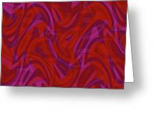 Abstract Waves Painting 0010080 Greeting Card