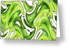 Abstract Waves Painting 0010081 Greeting Card
