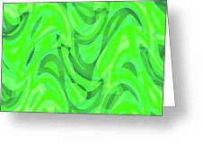Abstract Waves Painting 0010082 Greeting Card
