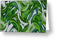 Abstract Waves Painting 0010087 Greeting Card