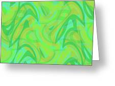 Abstract Waves Painting 0010089 Greeting Card