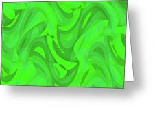 Abstract Waves Painting 0010101 Greeting Card