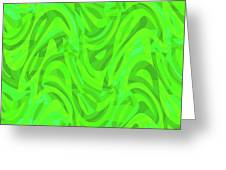 Abstract Waves Painting 0010106 Greeting Card