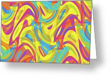 Abstract Waves Painting 0010109 Greeting Card