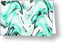 Abstract Waves Painting 0010111 Greeting Card