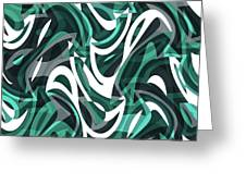 Abstract Waves Painting 0010112 Greeting Card