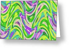 Abstract Waves Painting 0010113 Greeting Card