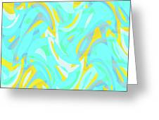 Abstract Waves Painting 0010114 Greeting Card