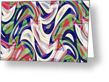 Abstract Waves Painting 0010118 Greeting Card
