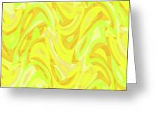 Abstract Waves Painting 0010121 Greeting Card