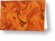 Abstract Waves Painting 001451 Greeting Card