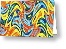 Abstract Waves Painting 007176 Greeting Card