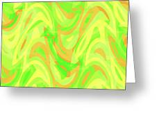 Abstract Waves Painting 007178 Greeting Card