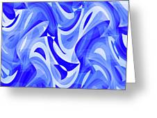 Abstract Waves Painting 007183 Greeting Card