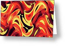 Abstract Waves Painting 007185 Greeting Card