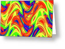Abstract Waves Painting 007192 Greeting Card