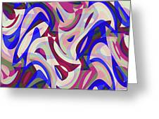 Abstract Waves Painting 007199 Greeting Card
